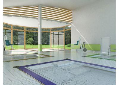 Gallery sezione  servizi. Rendering piscine.