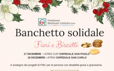 Banchetto solidale di FMC. Fiori e Biscotti per Natale